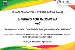 Sharing For Indonesia Periode Juli-Agustus 2017